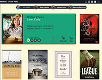 Themed book checkout site