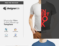 Free rounded collar t shirt mock-up psd BY Designertale