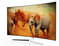 3d model: KS9500 Curved 4K SUHD TV by Samsung