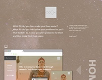 The Book of Portfolio - Website UI Design