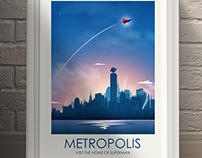 Movie Inspired Travel Poster Series (Metropolis)