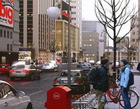 M Plaza street cut.