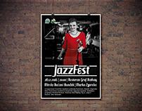 JazzFest plakat i flyer