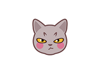 Grey Cat emoji表情包:喵先生
