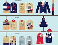 LABELS FOR THE CLOTHING COMPANY TOMMY HILFIGER