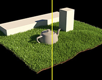 Corona Renderer: How to avoid bright pixels in grass