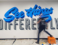 See Things Differently Mural Timelapse