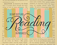Reading in Progress | Lettering