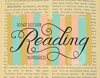 Reading in Progress | Lettering