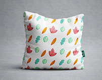 Creative Square Pillow Mockup