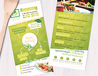 Flyer design for Enjoy Eating!