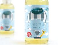 Baby oil package design bebek yağı etiket tasarımı