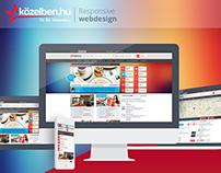 Közelben.hu - responsive redesign