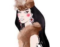 Fashion illustration. Russian style.