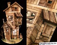 Haunted House Cutout