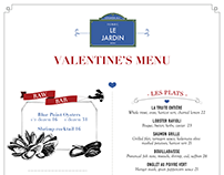 Retro restaurant menu - Valentines