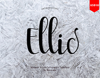 Ellic Script_alpabet font alternat wedding