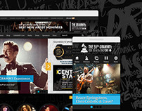 Grammy.com Redesign 2013