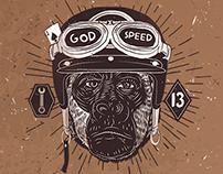 6 Vintage Motorcycles Badges Vol.2