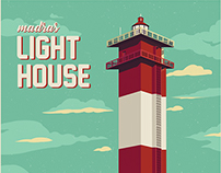 Madras Light House - Illustration