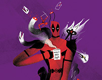 Deadpool 2 - illustration for Variety magazine