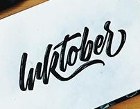 Inktober 2017 | Hand Lettering