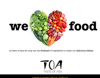TOA Advert campaign