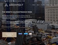 Maintenance Page - Architect WordPress Theme