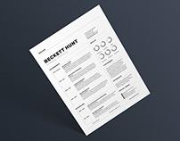 Resume/CV - 'Beckett'