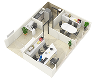 3D Office Floor Plan Design ideas by JMSD Consultant