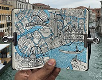 Moleskine Sketch Book European City Map Drawings