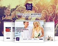 Wedding Plan _ Home Page deisgn concept