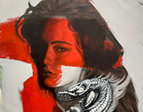 """""""Red II"""" Oil on canvas"""