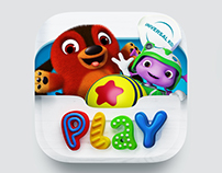 """Universal Kids Play"" App Icon Design"