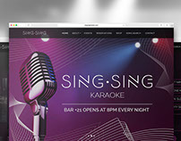 SING SING Karaoke bar Website & Maquette | 2016