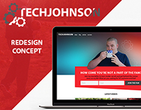 TechJohnson Website Redesign Concept (2015)