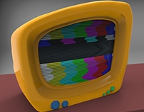 Cartoon 3D Tv Model