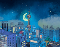 "City illustration for ""好妹妹"""