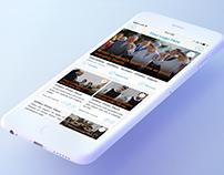 News Headline's App Design