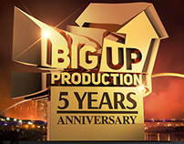 Wallpaper for Big Up Production - 5 years anniversary