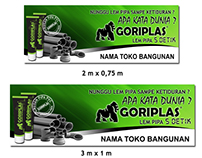 Design Banner Gorilaplas-Lem Pipa PVC