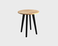 Aria Side Table Oak
