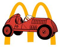 McDonald's Monopoly Campaign Illustrations