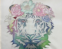 Flower.Tiger - Batik