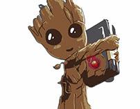 Baby Groot vetorizado