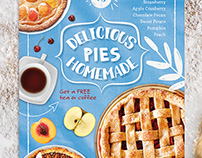 Food Flyers Bundle /Pie Flyer Psd Templates/