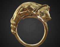 Chameleon ring (subd model based on 3d scan)