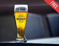 Beer Cup – Free PSD Mockup