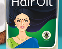 Hair Oil Label Design