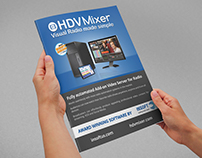 Change aesthetics and layout for HDVMixer brochure